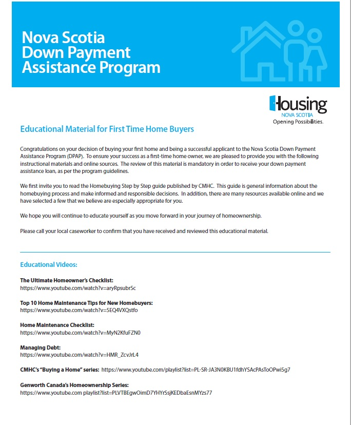 Down Payment Assistance Program | Housing Nova Scotia
